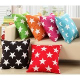 Stars flannel pillow cover