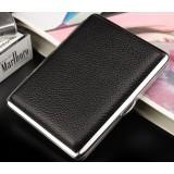 Steel + leather personalized cigarette case