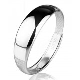 Sterling silver Simple and smooth couples ring