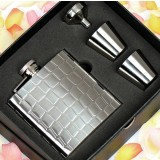 Stone patterns 8oz stainless steel hip flask