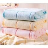 Striped cotton bath towel