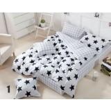Striped cotton series 4pcs bedding sheet set