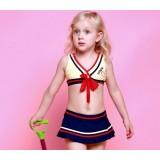 Striped triangular bikini swimwear