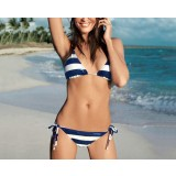Stripes 2pcs bikini swimsuit