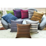 Stripes flannel pillow