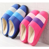 Stripes Indoor plush slippers
