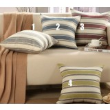 stripes linen pillow cover