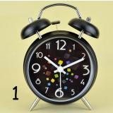 Students cartoon alarm clock