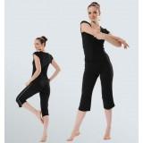 Summer black dancing yoga clothes suit