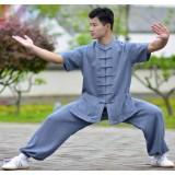 Summer short-sleeved Tai Chi clothing
