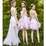Summer short style bridesmaid dress