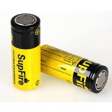 SupFire 3.7V rechargeable 26650 lithium battery