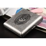 Tai Chi pattern retro silver cigarette case