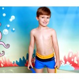 Three-color little boy swim trunks