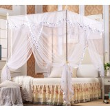 Three-door stainless steel rectangular mosquito net