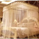 Three-doors retractable mosquito net