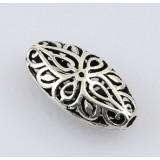 Titanium silver hollow out long bead