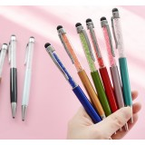 Touch pen + 0.7mm Metal ball point pen stylus