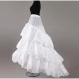 trailing taffeta dress pannier