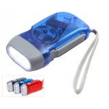 Transparent hand crank LED Flashlight