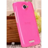 Transparent hard shell protective cover for HTC Onex / S720e