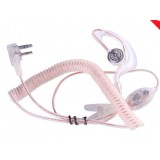 Transparent headphones with MIC for walkie talkie