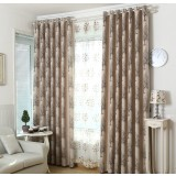 Tree patterns linen curtains
