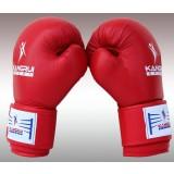 Unisex leather boxing gloves