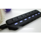 usb2.0 splitter / USB HUB with switch / external power supply