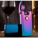 USB dual electric arc metal windproof lighter