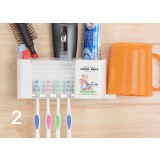 Wall-mounted dustproof multifunction toothbrush holder