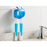 Wall-mounted ultraviolet sterilizer toothbrush holder