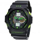 Waterproof large dial electronics sports watch