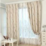 Wave pattern minimalist curtains