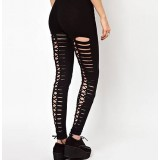 Weave sexy night tight elastic black leggings