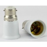 White B22 to E27 LED bulb socket converter