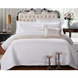 White cotton satin series 4pcs bedding sheet set for hotel