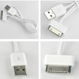 White Data Charging Cable for iPod nano touch 4