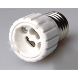 White E27 to GU10 LED bulb socket converter