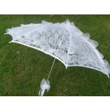 White large lace wedding umbrella