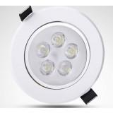 White rotatable 5-7W 12V LED ceiling lights