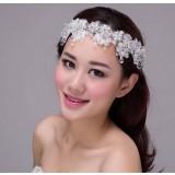White snowflakes bridal hair accessories
