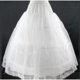 white three circles wedding dress pannier
