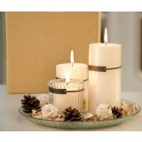 White wedding candles set