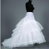 white wedding dress big pannier