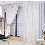 White yarn curtains