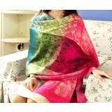 Winter & autumn knitting wool Colorful jacquard technology warm scarf