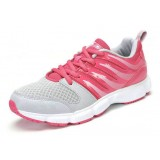 Women lightweight leather stitching mesh sports shoes
