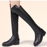 Women's black knee boots