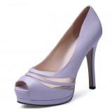 Women's waterproof fish mouth stiletto heel sandals